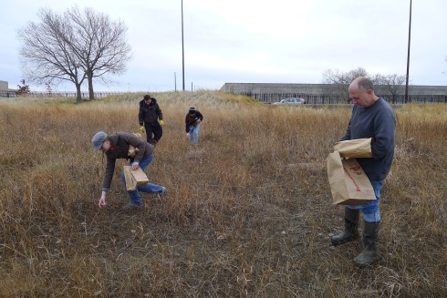Jen, John and two TNC staff disperse a select set of seeds in RBD's panne